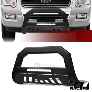 For 2006 2010 Ford Explorer Matte Black Avt Aluminum Led Bull Bar Bumper Guard
