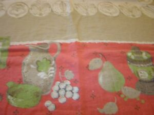 1940 S Vintage 100 Linen Strafford House Tablecloth Large 50 L By 48 Wide