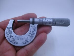 Starrett No T230 1 Micrometer Machinist Tool Athol Mass Usa