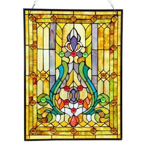 Stained Glass Victorian Fleur De Lis Tiffany Style Window Panel One This Price