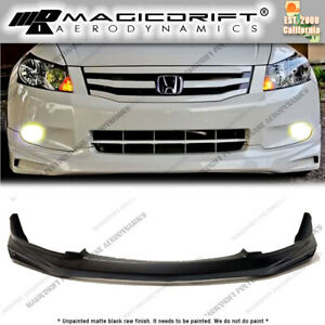 For 08 09 10 Honda Accord 4 Cyl Sedan Mug Style Front Bumper Splitter Lip Jdm