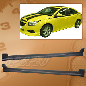 Type 1 Add on Pu Side Skirts Body Kit Polyurethane For 11 12 Chevy Cruze