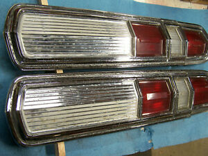 Mopar 1966 Plymouth Sport Fury Tail Light Lamp Set 66