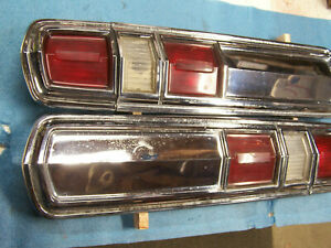 Mopar 1966 Plymouth Fury Vip Tail Light Lamp Set 66 Smooth No Lines