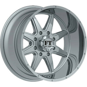 22x12 Chrome Full Throttle Ft 2 Wheels 6x135 44 Lifted Fits Ford Expedition