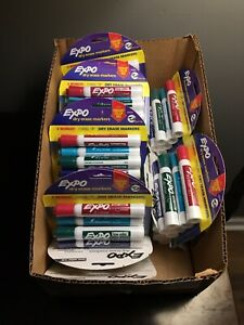 22 Packs Of 6 Expo Dry Erase Markers Vibrant Mix Low Odor Lot