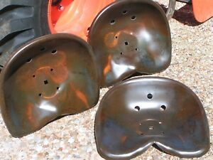 Three Deep Steel Tractor Metal Farm Machinery Stool Seat S New Old Style