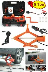 Electric Car Floor Jack 5 Ton All In One Automatic 12v Scissor Lift Jack