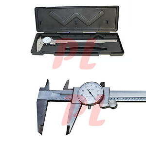 12 Stainless Steel 4 Way Dial Caliper Shockproof 001 Grad Calipers Ruler
