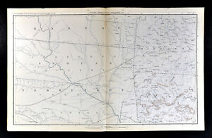 Civil War Map Oklahoma Indian Territory Arkansas Fayetteville Tahlequah Cherokee