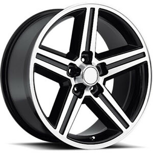 22x9 Machined Black Strada Replicas Iroc Replica Wheels 5x4 75 10 Fits Gmc