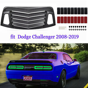 Rear Window Louvers accessories Kit Muscle Style For 2008 2019 Dodge Challenger