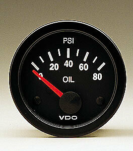 Vdo Gauges 350104 Vdo Vision Style Electrical Oil Pressure Gauge 2 1 16 Diamet