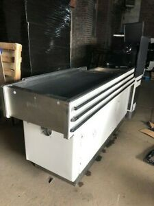 Express Checkout Counter W Belt Motorized Electric Used Store Grocery Fixtures