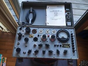 Tv 7 u Military Tube Tester Repaired calibrated By Dan Nelson 04 2018