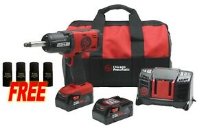 Cp 8849 2k 4ah 20v 1 2 Dr Cordless Impact Wrench Kit W Extended Anvil