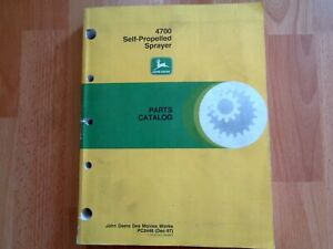 John Deere 4700 Self Propelled Sprayer Factory Parts Catalog Pc2448 Oem