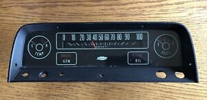 64 65 66 Chevrolet Truck Gauge Cluster Part 6407341 Chevy C10 K10