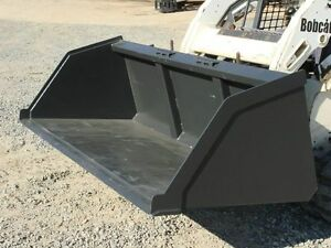 New 8 96 Skid Steer Loader Snow Mulch Litter Dust Bucket Bobcat Takeuchi