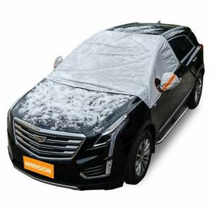 Marksign Windshield Snow Cover Frost Protector For Cars Compact And Mid size Suv