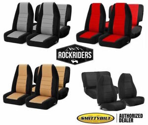 1991 1995 Jeep Wrangler Yj Smittybilt Front Rear Complete Neoprene Seat Covers