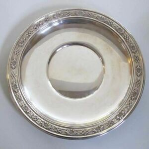 Meriden Sterling Silver Platter Bowl With Decorative Rim 10 Inch 284 Grams
