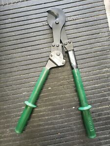 Used Greenlee 756 Ratchet Cable Cutter