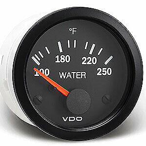Vdo Gauges 310105 Vdo Vision Style Electrical Water Temperature Gauge 2 1 16 D