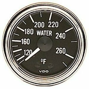 Vdo Gauges 180301 Vdo Series 1 Style Mechanical Temperature Gauge 2 1 16 Diame
