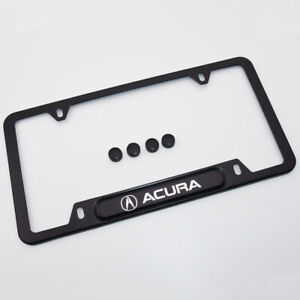 For Acura Brand New License Frame Plate Cover Stainless Steel A Spec Port Black