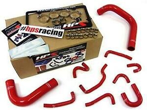 Hps Performance Products 57 1323r red Hps Silicone Radiator Hose Kit