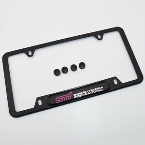 For Subaru Sti Tecnica International License Frame Plate Cover Stainless Steel