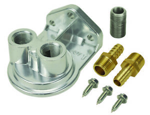 Derale Cooling Products 13005 Remote 3 8 Npt Ports up Filter Mount Kit