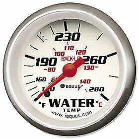 Equus 8242 Water Temperature Gauge White