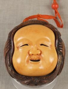 Antique 19thc Japanese Boxwood Signed Sagemono Meiji Period Inro