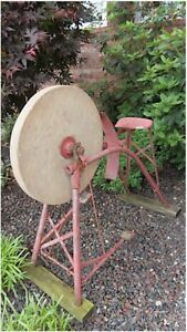 Antique Primitive Grinding Stone Wheel Sharpening Whetstone Pedal Power