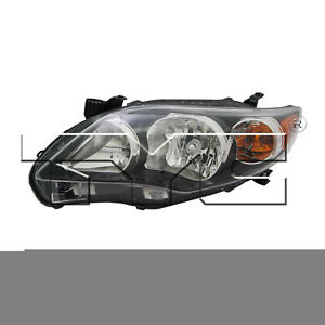 Tyc 20 9196 90 9 Left Headlight Assembly For 2011 2013 Toyota Corolla To2502204