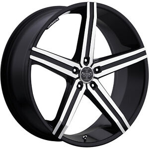 Versante Ve228 24x9 5 5x120 30mm Machined Black Wheels Rims 228249547 30bm