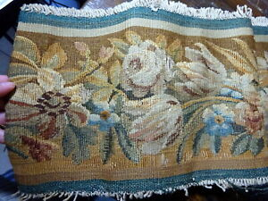 A Large Band Of 17th 18th Century Aubusson Type Verdure Tapestry Fragment