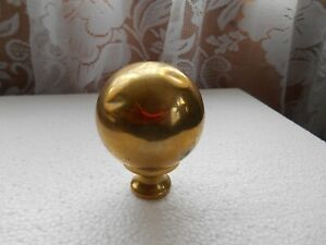 Victorian Salvaged Reclaimed 2 1 4 Brass Bed Knob Finial