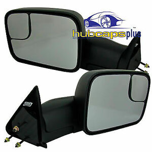 For 94 01 New Dodge Ram Truck Manual Adjustable Flip Towing Camper Mirror Kit