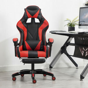 Cliensy Office Gamings Chair Racings Recliner Bucket Seat Computer Desk Footrest