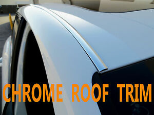 For Saab01 11 Chrome Roof Top Trim Molding Accent Kit