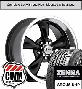 17 Inch Wheels And Tires For Chevy Corvette C3 Black 17x8 Retro Rims Fit 68 82