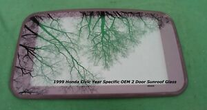 1999 Honda Civic Ex 2 Door Oem Year Specific Sunroof Glass Free Shipping