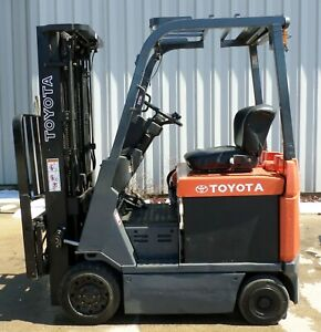 Toyota 7fbcu15 2003 3000 Lbs Capacity Great 4 Wheel Electric Forklift