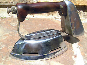 Antique Akron Diamond Gas Clothes Pressing Iron