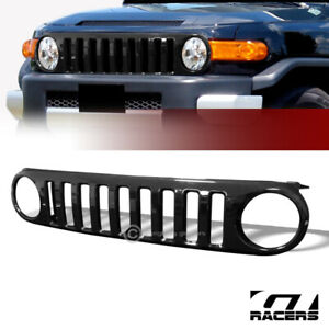 For 2007 2014 Fj Cruiser Black Vertical Front Hood Bumper Grill Grille Guard Abs