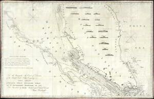1857 James Horsburgh Nautical Chart Of Singapore And The Malacca Strait