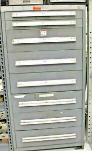 Stanley Vidmar 8 Drawer Industrial Tool Cabinet 30 X 27 3 4 X 59